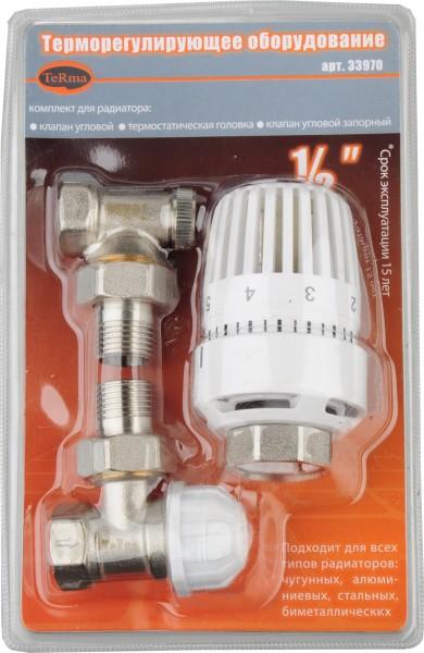 комплект термостатический для радиатора прямой 1/2