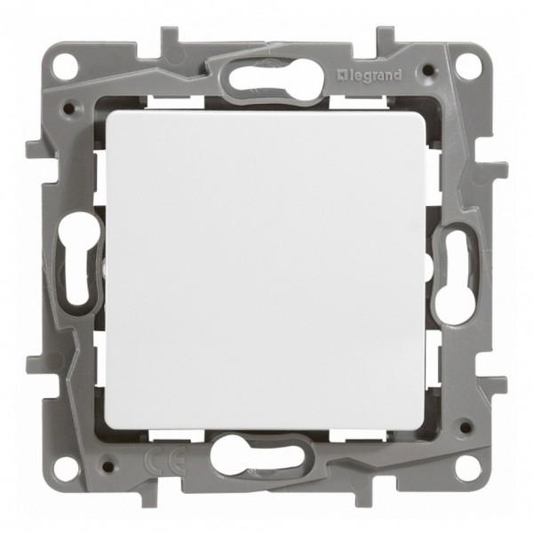 выключатель 1-клавишный legrand etika бел с подсветкой, 10а, винт. клем. (арт. 672203)