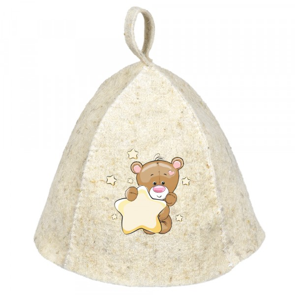 шапка банная мишка детская hot pot войлок 100% /20 недорого