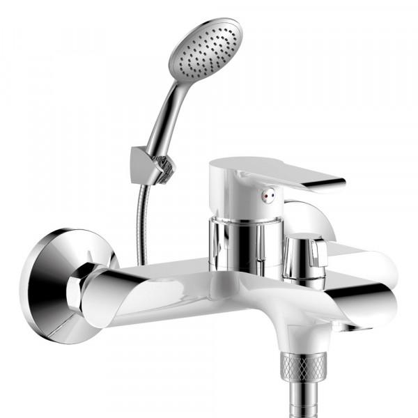 смеситель для ванны rossinka однорычажный w35-31 хром/бел