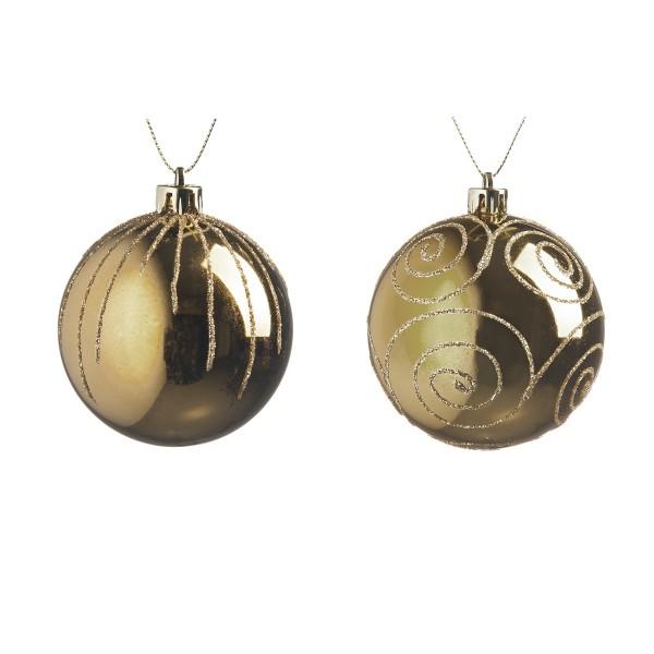 набор елочных шаров изящные, шампань, 2шт. в связке, 6см, пластик/350/35