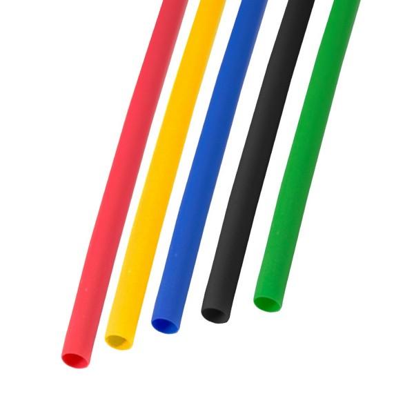 набор термоусадочной трубки 3,5/1,75мм 1м пять цветов rexant
