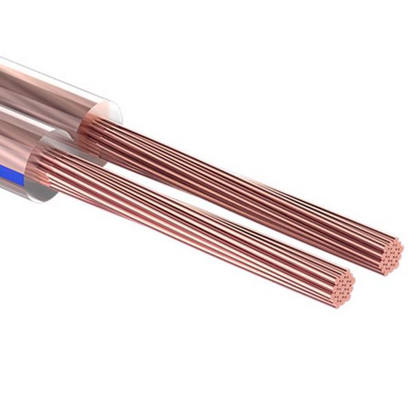 кабель акустический 2х 0.35мм, прозрачный bl, 5м rexant