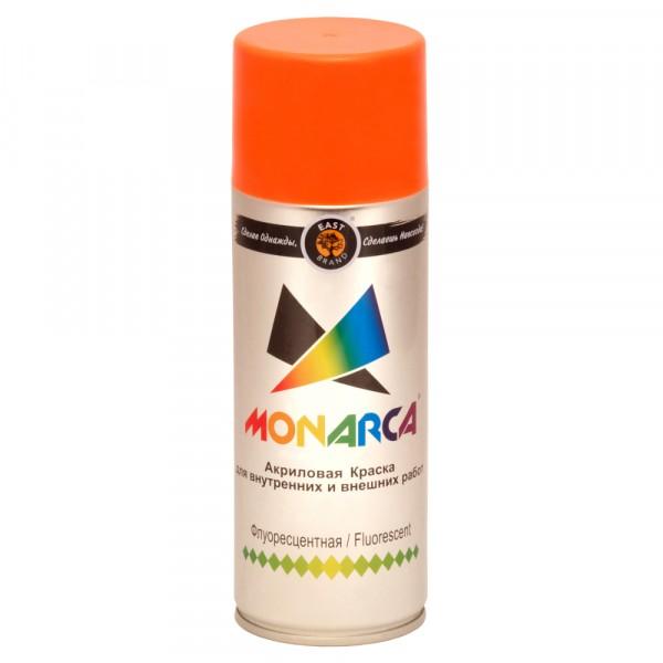 эмаль аэрозоль monarca флуоресцентная красный 270г./520мл.