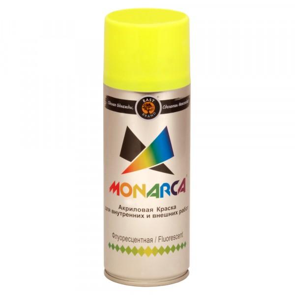 эмаль аэрозоль monarca флуоресцентная желтый 270г./520мл.