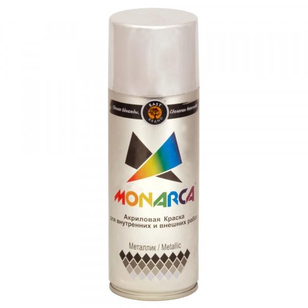 эмаль аэрозоль monarca металлик яркий хром 270г.