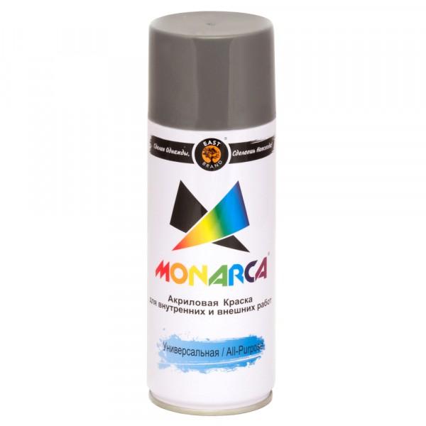 эмаль аэрозоль monarca универсальная белый алюминий 270г. ral 9006
