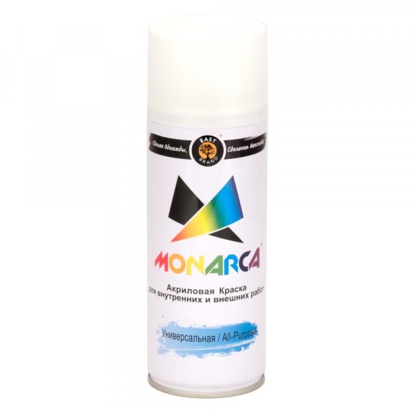 эмаль аэрозоль monarca универсальная белый матовый 270г. ral 9010