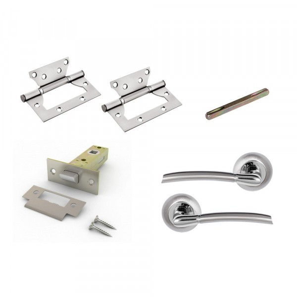 комплект для двери фабрика замков fz set 01-c 100 2h sn(матовый никель)