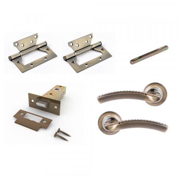 комплект для двери фабрика замков fz set 04-c 100 2h ab(античная бронза)