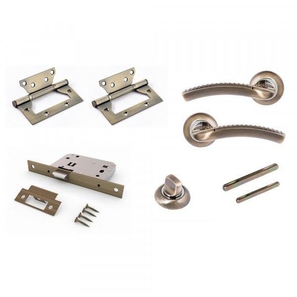 комплект для двери фабрика замков fz set 04-c 170 2h bk ab(античная бронза)