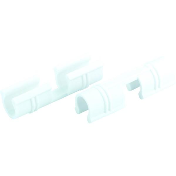зажим для крепления плёнки к каркасу парника, d-12мм, 20 шт, белый palisad