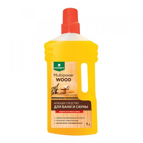 средство моющее для бани и сауны prosept multipower wood 1л