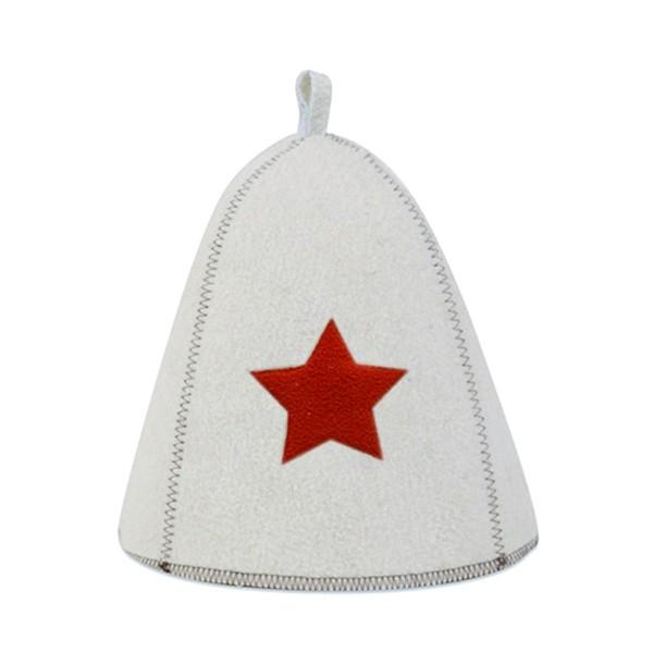 шапка банная со звездой, войлок недорого