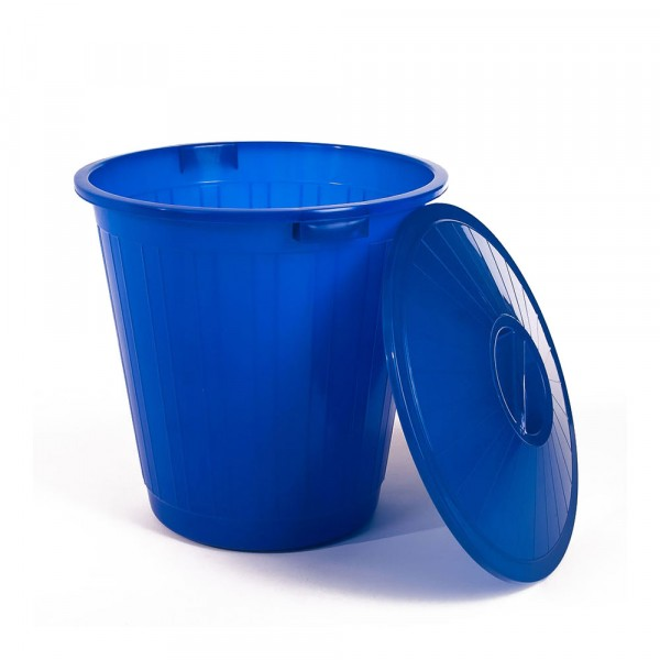бак пластиковый с крышкой синий 50л эп 097600