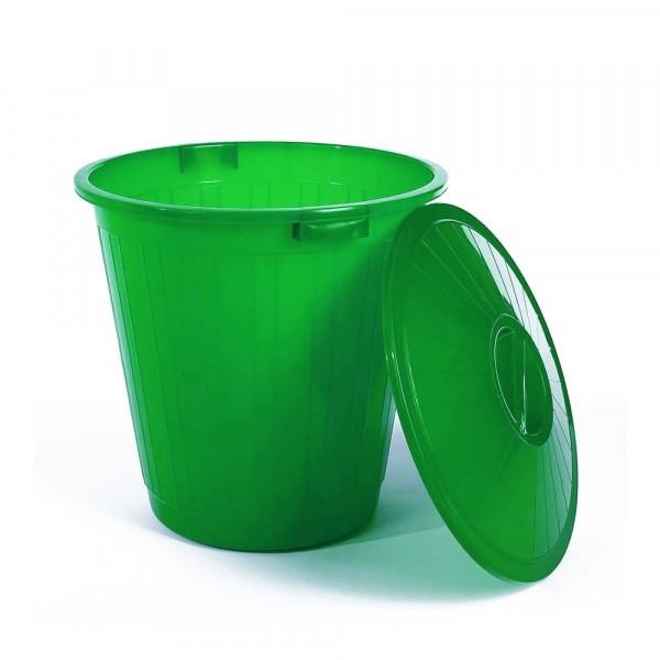 бак пластиковый с крышкой зеленый 70л эп 097686