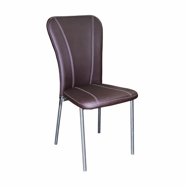 стул клео хром-зеркало/коричн аэро металл/иск.кожа с01.00.00