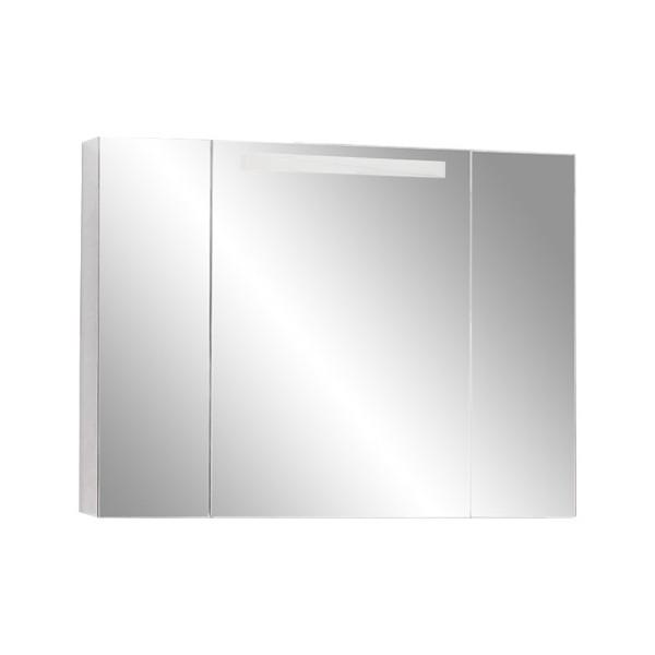 шкаф зеркальный со светильником акватон мадрид 120 1a113402ma010