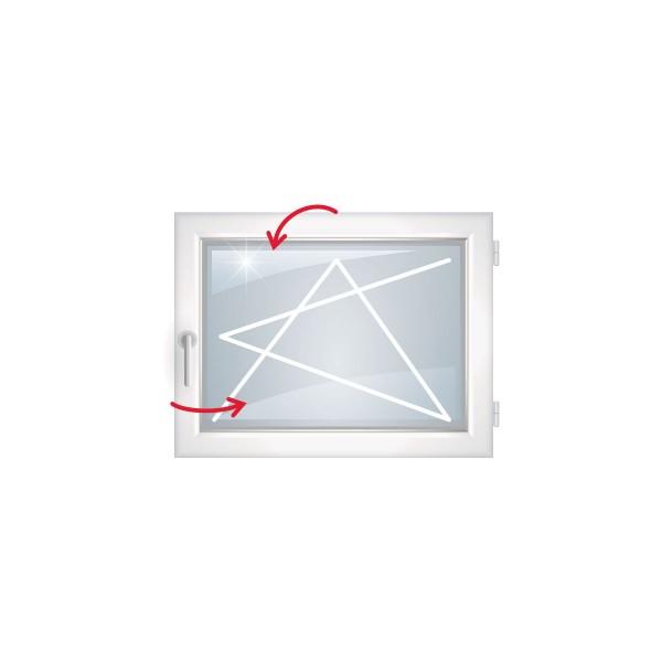 окно пвх rehau blitz new одностворчатое повор-откид.прав., однокамер. стек., 90 x 90 см
