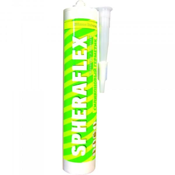 герметик силиконовый spheraflex универс. белый 300мл