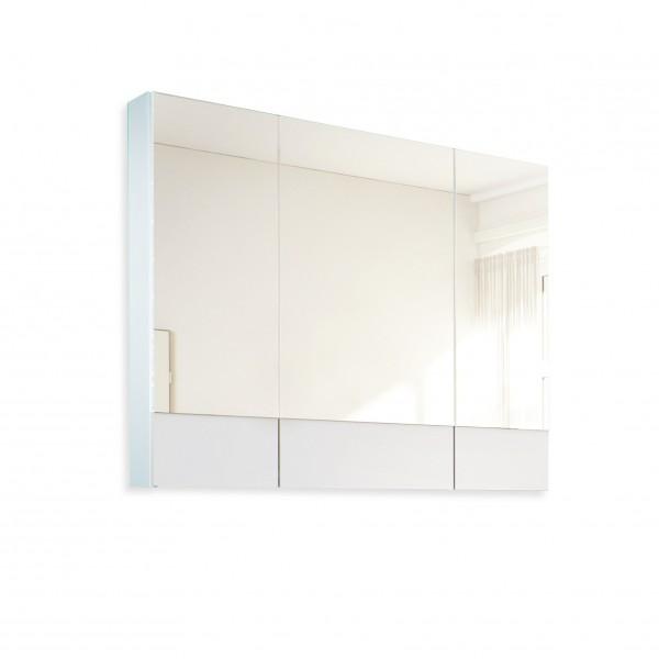 зеркало-шкаф соната 90 3д. белый глянец