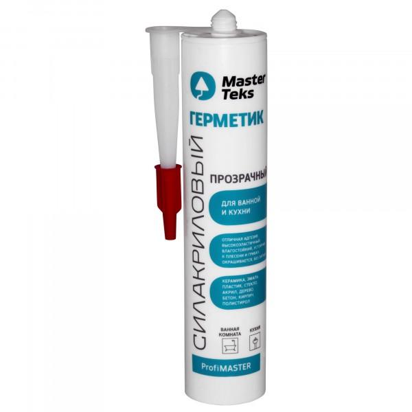 герметик силакриловый masterteks pm для ванны и кухни прозрачный 0,29