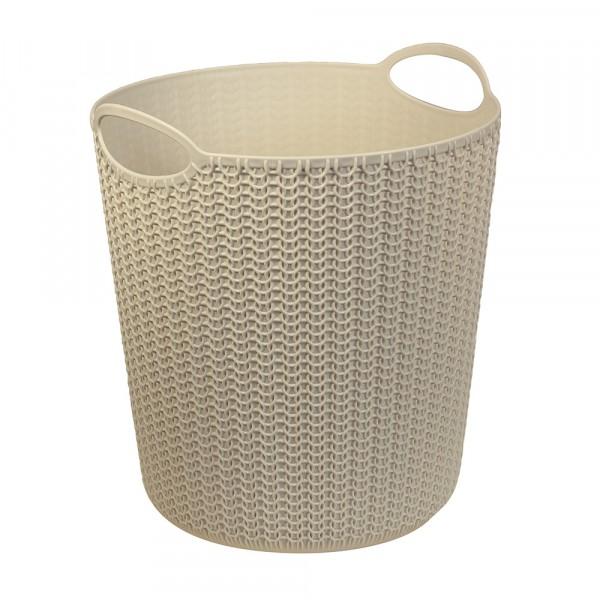 корзина для бумаг вязание 10л белый м2499