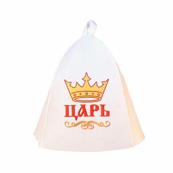 шапка банная царь войлок синт. недорого