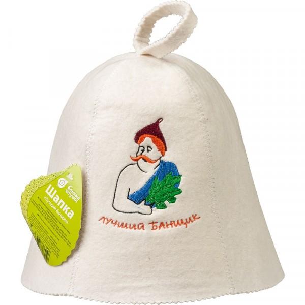 Фото - шапка банная банные штучки лучший банщик войлок 100% 41050 шапка банная банные штучки добрая баня войлок 100