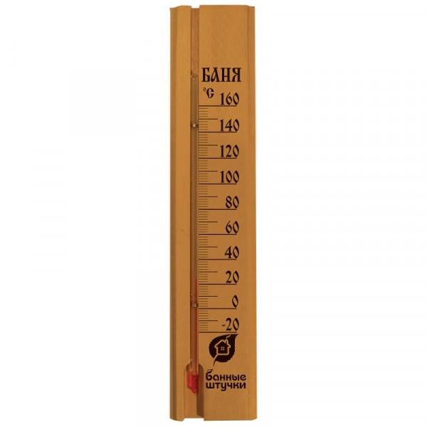 термометр для бани и сауны баня 24,8*5,3*1,1см 18037