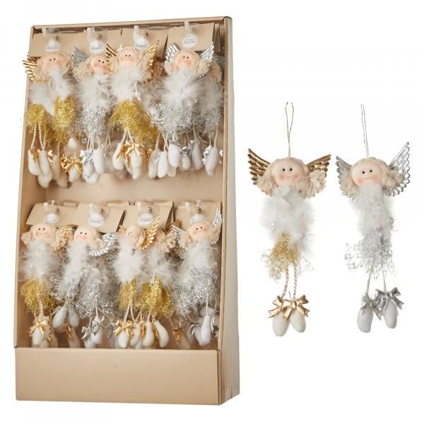 подвеска кукла/ангел белая в е 2 вида 8*17,5см дисплей 83298 (1043955)