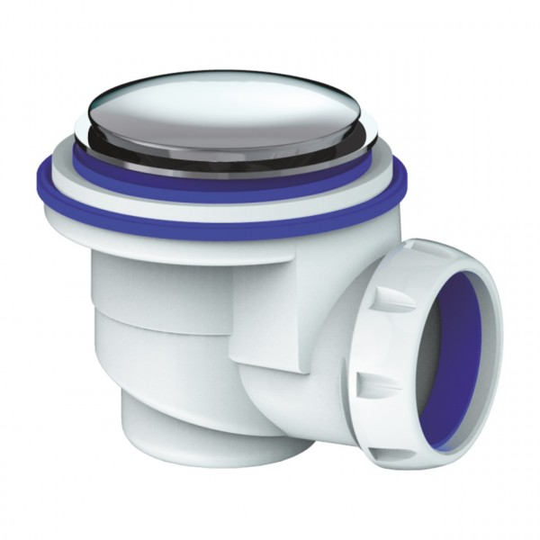 Фото - сифон для душевого поддона системы клик клак (хром.вып., d65) сифон для душевого поддона orio а 42589