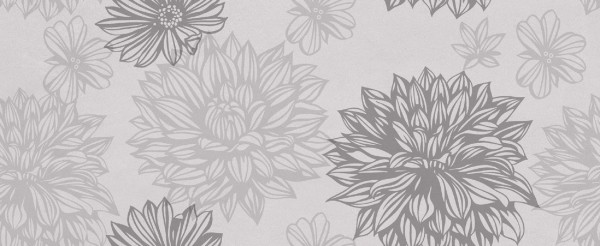 плитка настенная osaka flower серый 20х50 (1,3м2/62,4м2) 522251