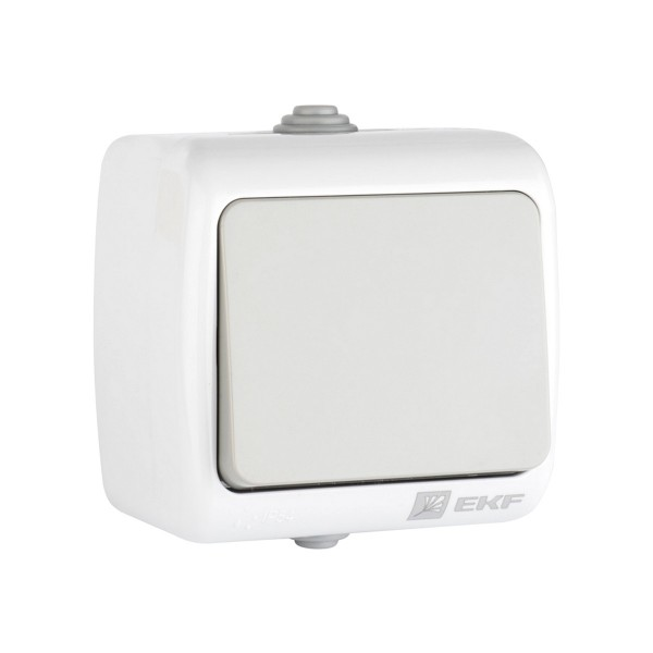 выключатель 1-клавишный мурманск 10а ip54 серый efv10-021-30-54