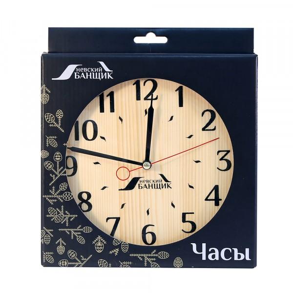 часы для предбанника деревянные