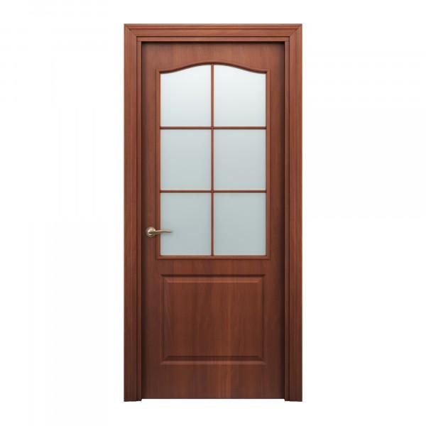 Фото - полотно дверное остекленное палитра,3d финиш-пленка 2000х800мм,итальянский орех коробочный брус плоский 3d финиш пленка 2070х70х26мм серый