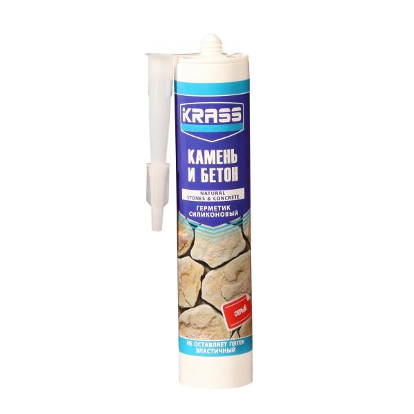 Фото - герметик krass для бетона 300мл серый облицовочные материалы