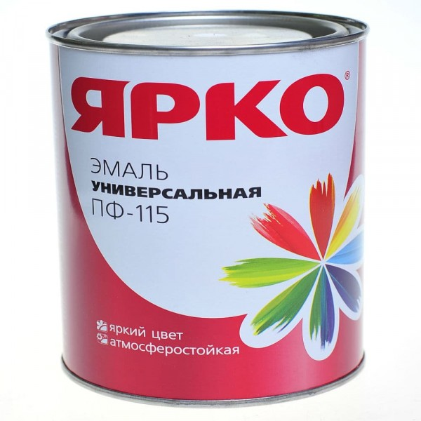 эмаль ярко пф-115 1,9кг белая матовая /ярославль/