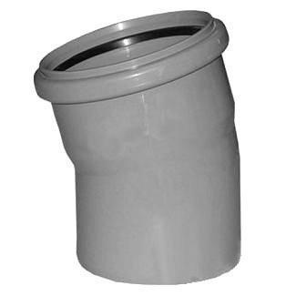 отвод канализационный 110*15 отвод d 110 мм 15 градусов