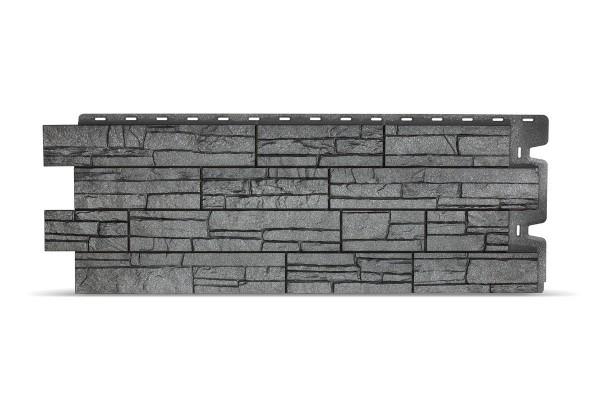 фасадная панель docke stein, цвет антрацит, 0.44 м2
