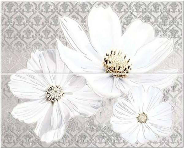 панно из 2шт sfumato grey floret