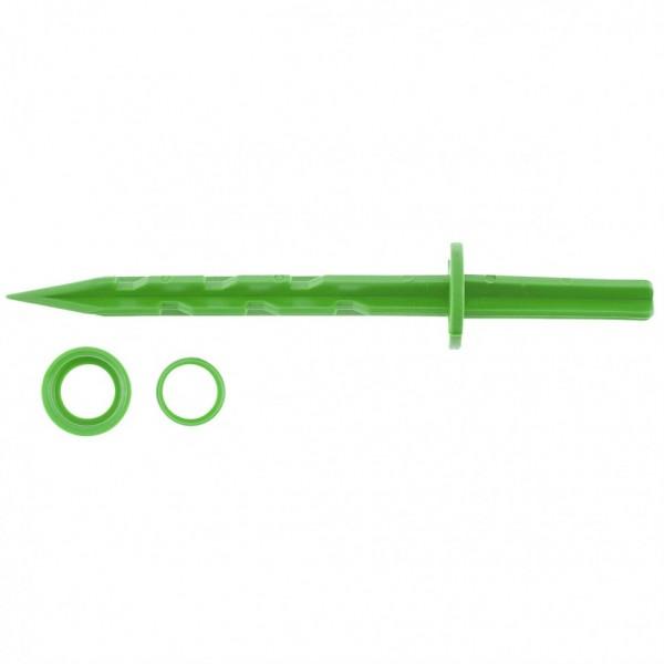 колышек 20см с установ. кольцом для креп/укрыв.мат. и пленки 10шт/уп зеленый </div> <div class=