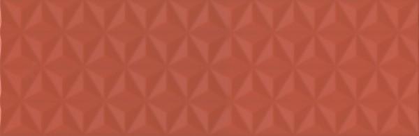 керамическая плитка 25х75 диагональ красный структура обрезной