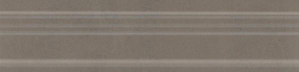 керамический бордюр 20х5 багет параллель коричневый