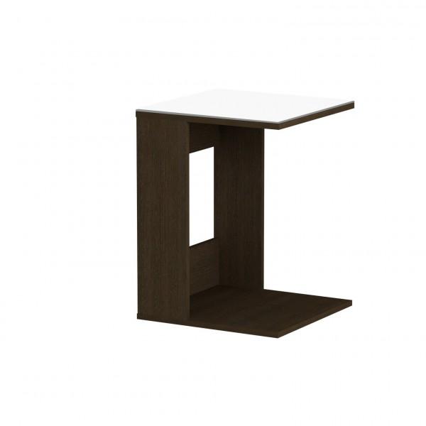 стол журнальный ls 731, 02.011 (корпус-венге,стекло-белый) стол laredoute журнальный со столешницей из белого мрамора и дуба crueso единый размер бежевый
