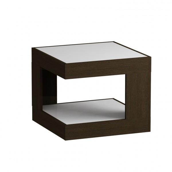 стол журнальный ls 746, 02.11 (корпус-венге,стекло-белый) стол laredoute журнальный со столешницей из белого мрамора и дуба crueso единый размер бежевый