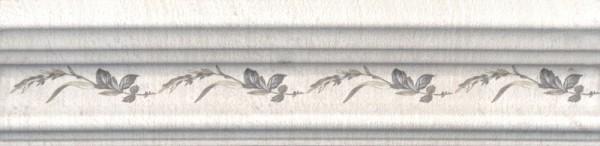 керамический бордюр 20х5 багет кантри шик белый декорированный