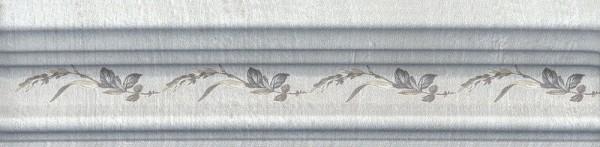 керамический бордюр 20х5 багет кантри шик серый декорированный