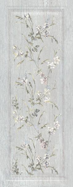 керамическая плитка 20х50 кантри шик серый панель декорированный