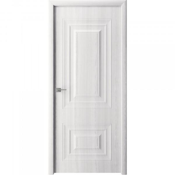 полотно дверное глухое владимир,пвх 2000х600мм,белый ясень